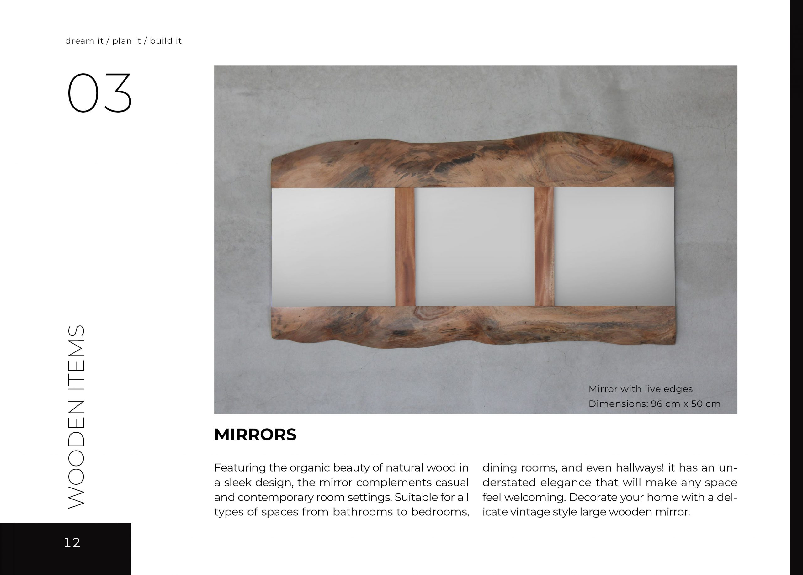 FabsFurniture Taiwan Portfolio - 2021 - wooden mirrors with live edge