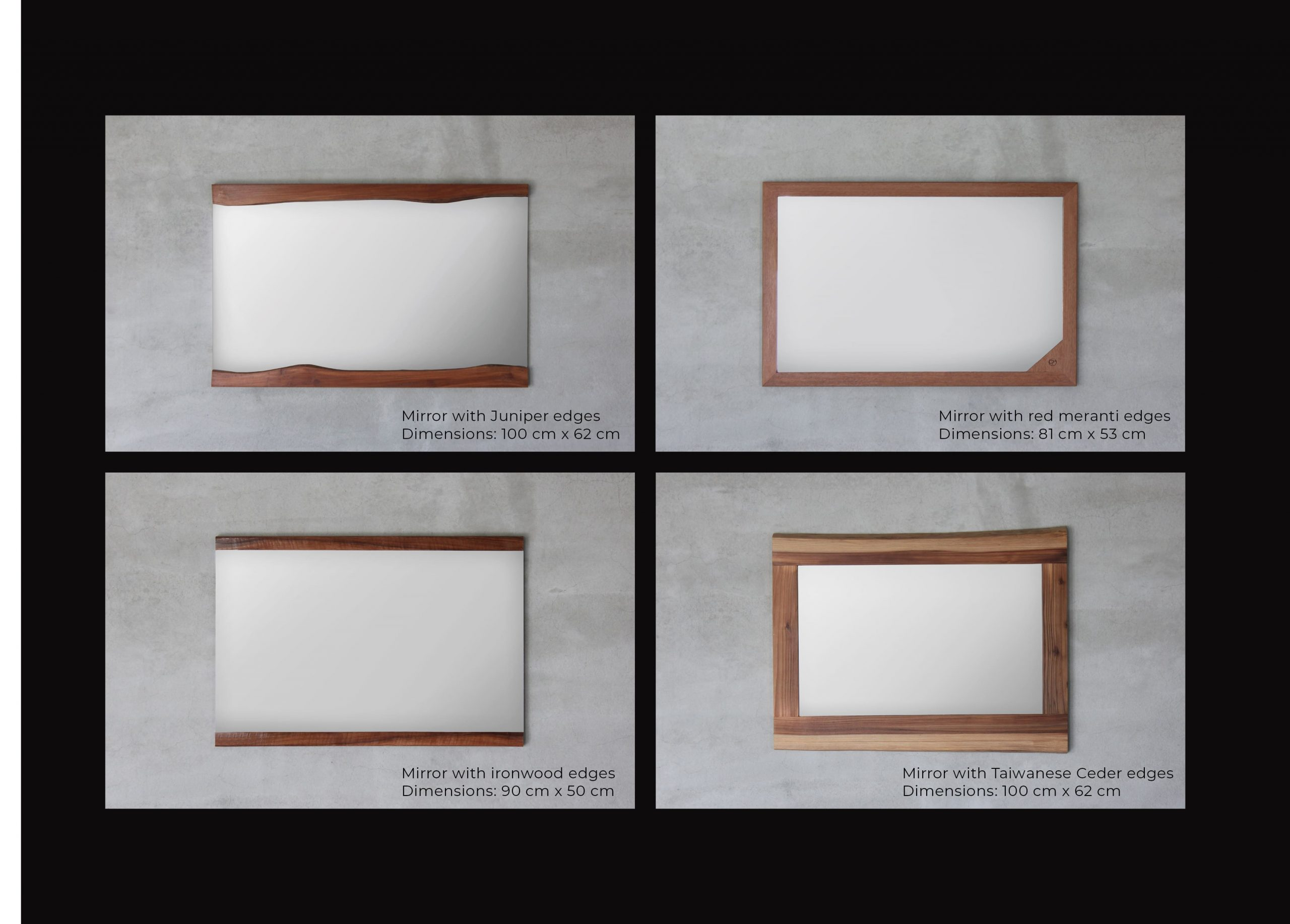FabsFurniture Taiwan Portfolio - 2021 - wooden mirrors