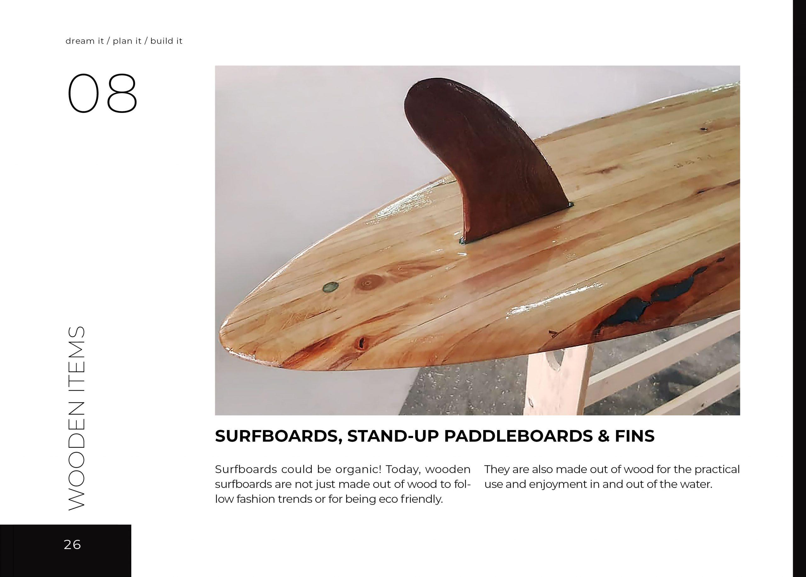 FabsFurniture Taiwan Portfolio - 2021 - wooden surfboard