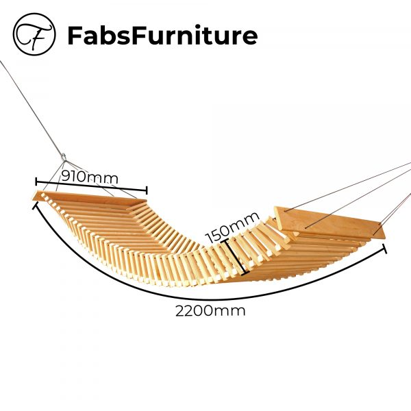 FabsFurniture -Wooden Hammock - dimension