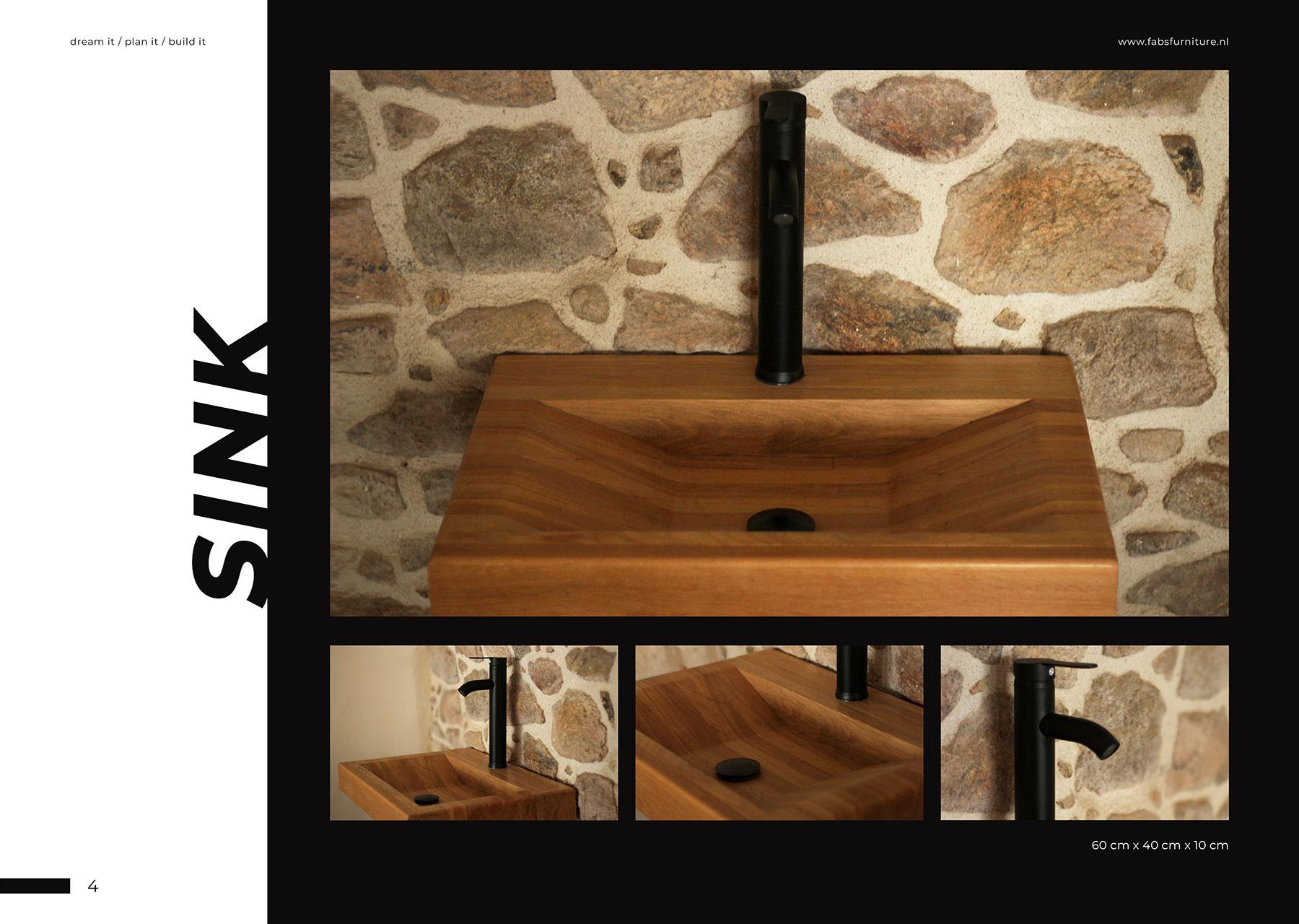 FabsFurniture Europe Portfolio - 2021 - wooden sink