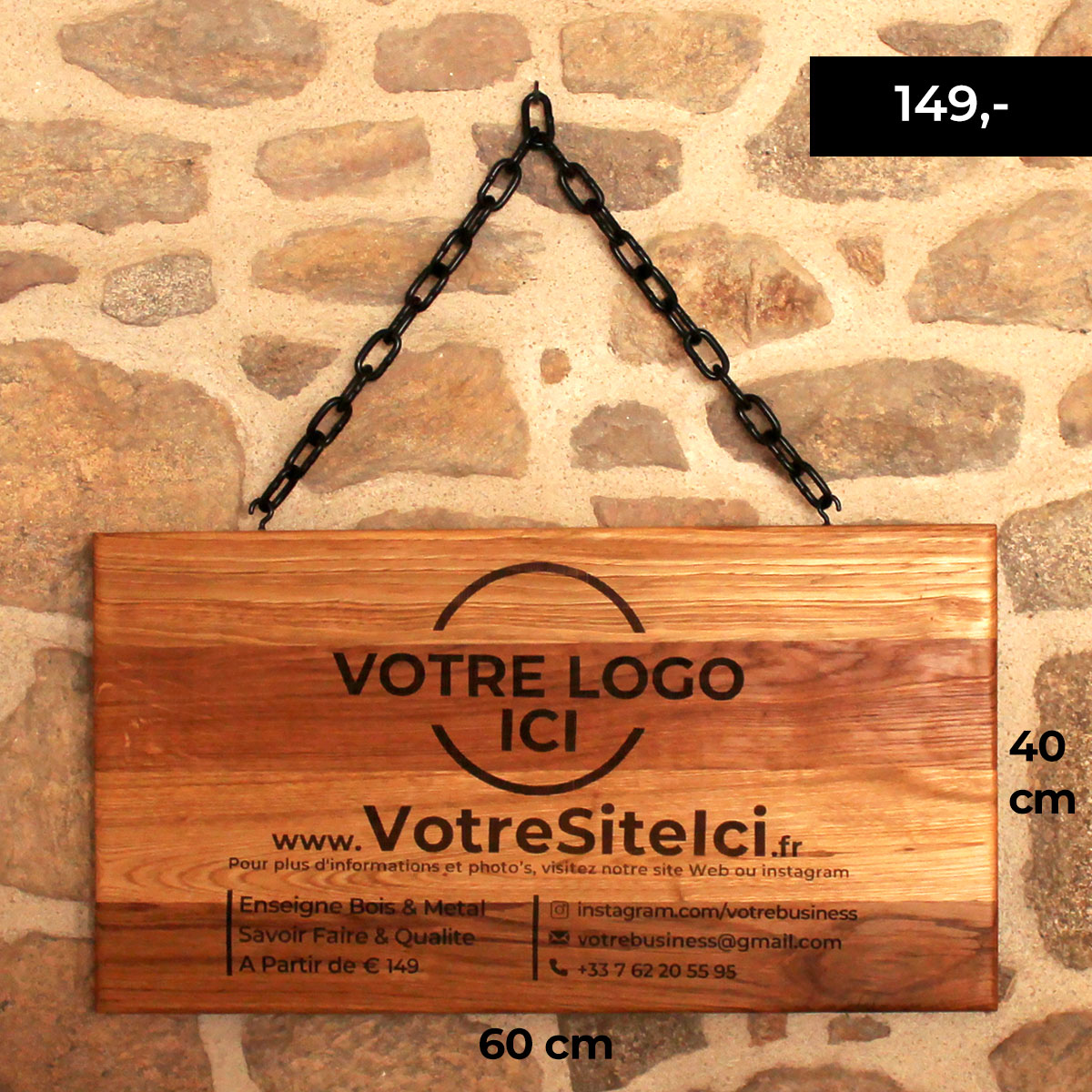 Custom Wooden Sign-Wooden-Shop-signs-engraved-example-size-FabsFurniture